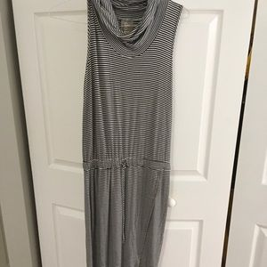 Anthropologie Maxi striped dress high low